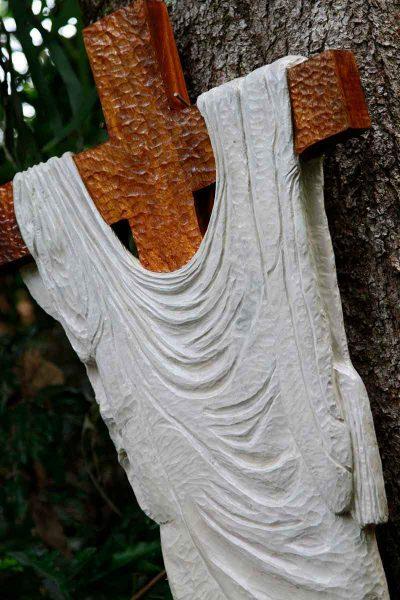 Cloak on Crucific by Trevor Irvine